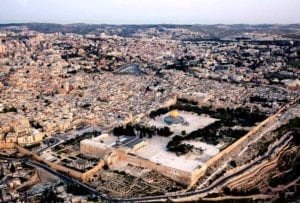 Aerial footage of Jerusalem