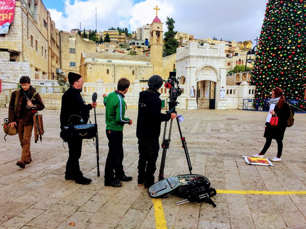 Camera crew in Israel