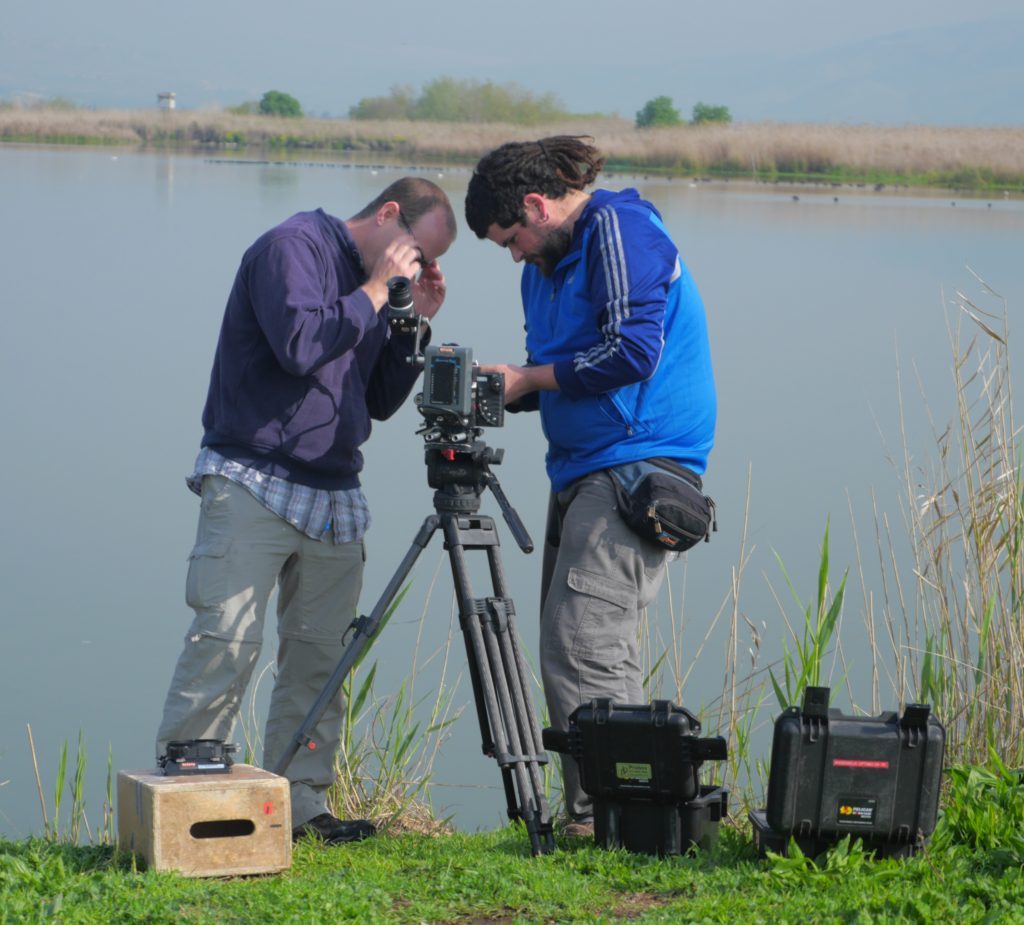 Camera crews in Israel